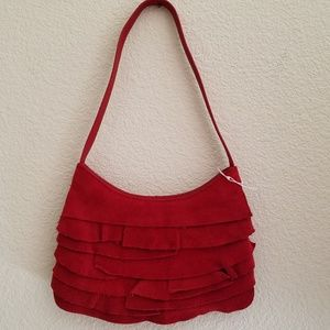 NEW Genuine Suede & Leather Coldwater Creek Purse